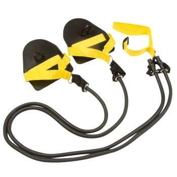 Тренажер резина с лопатками Dry swimming Lite, цвет чёрный