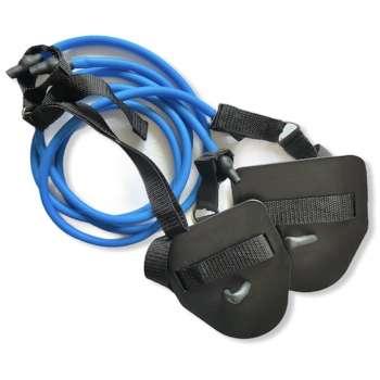 Тренажер резина с лопатками Dry swimming Lite, цвет голубой