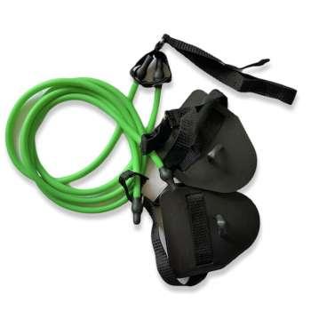 Тренажер резина с лопатками Dry swimming Lite, цвет зелёный